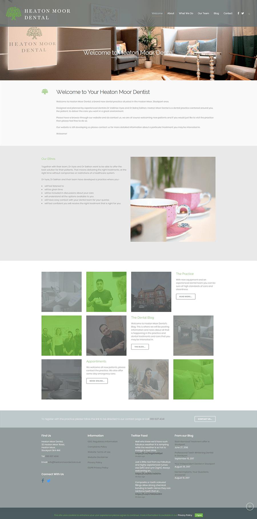 heaton moor stockport website design