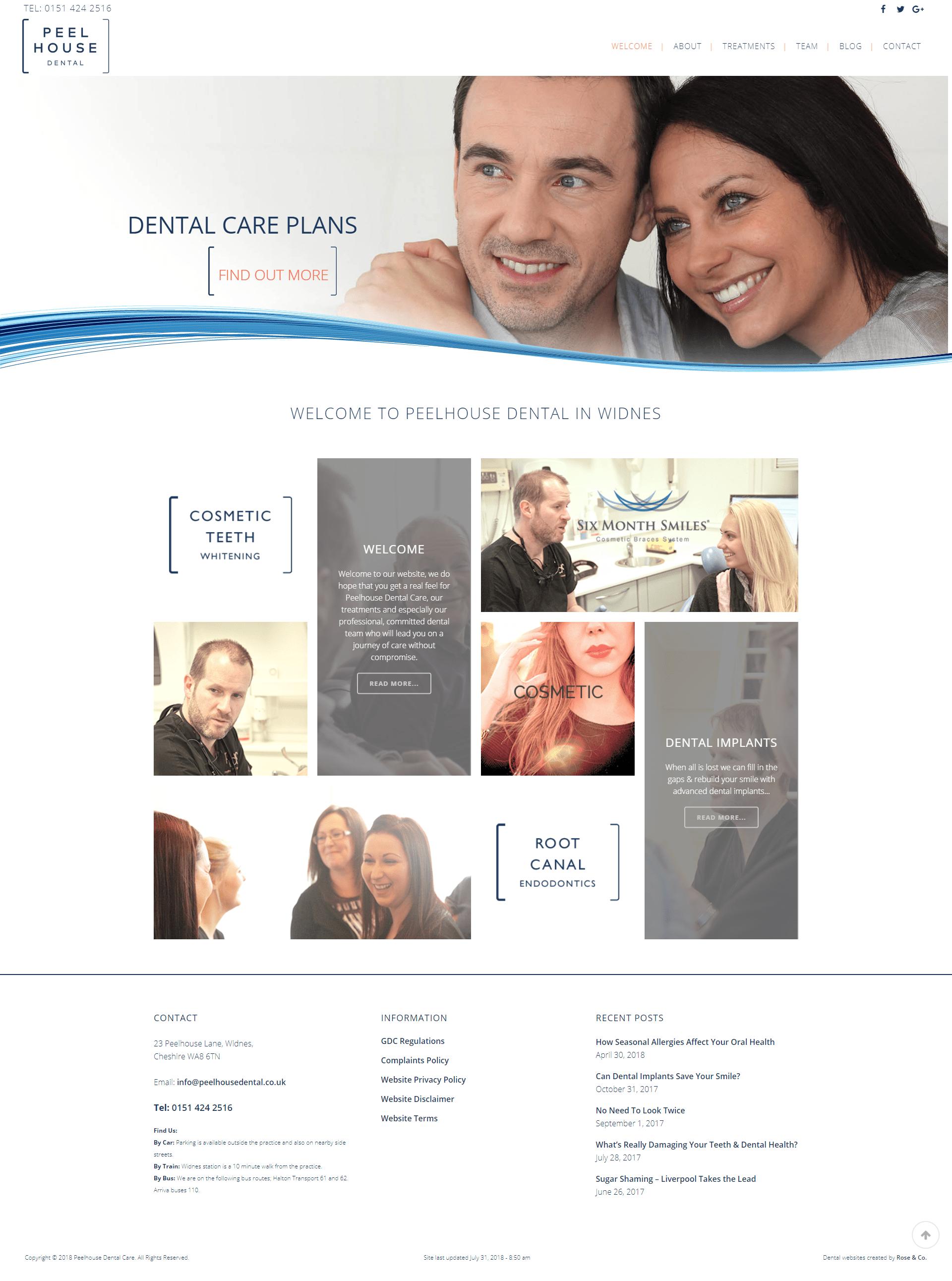 peelhouse dental website