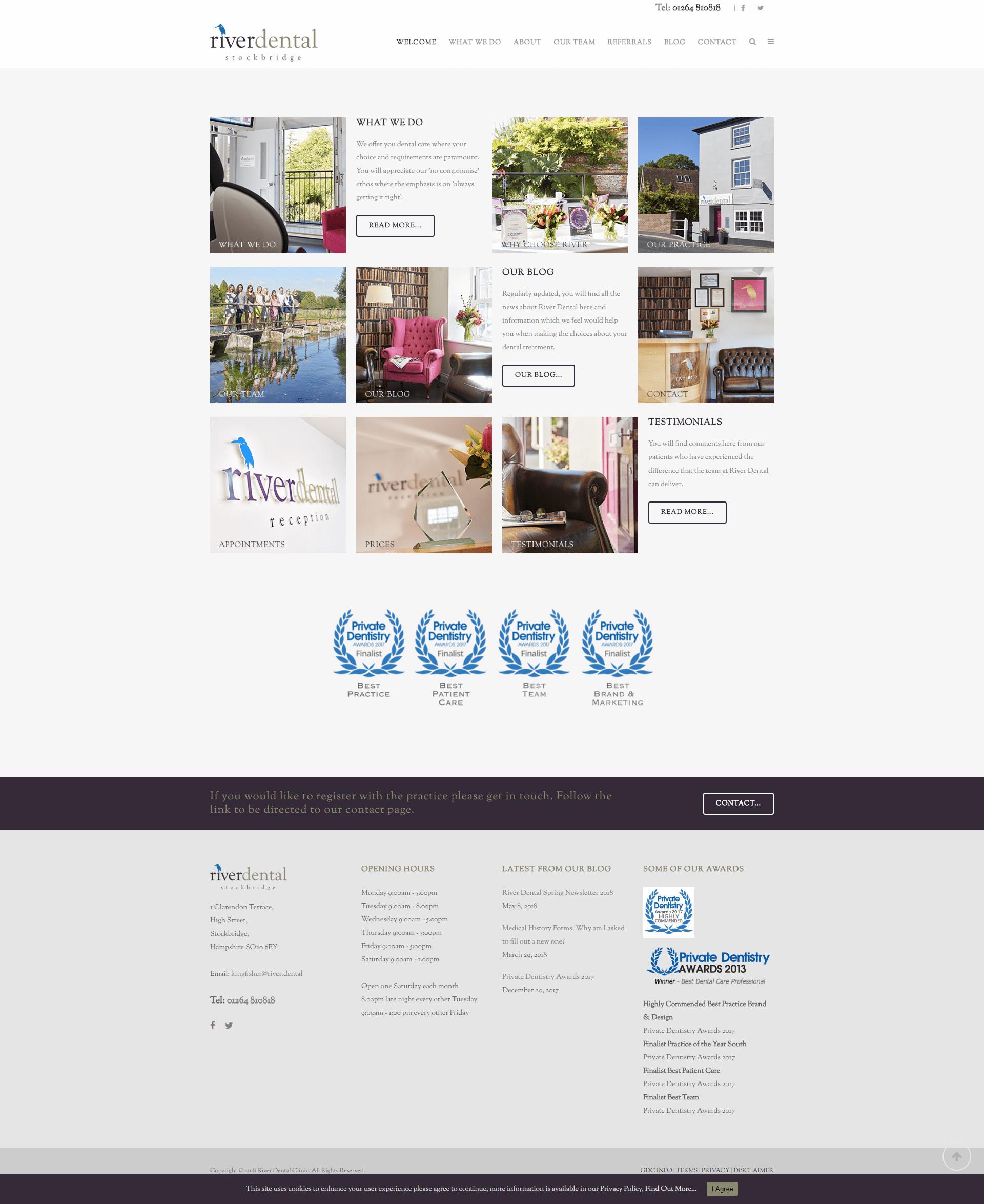 river dental website design