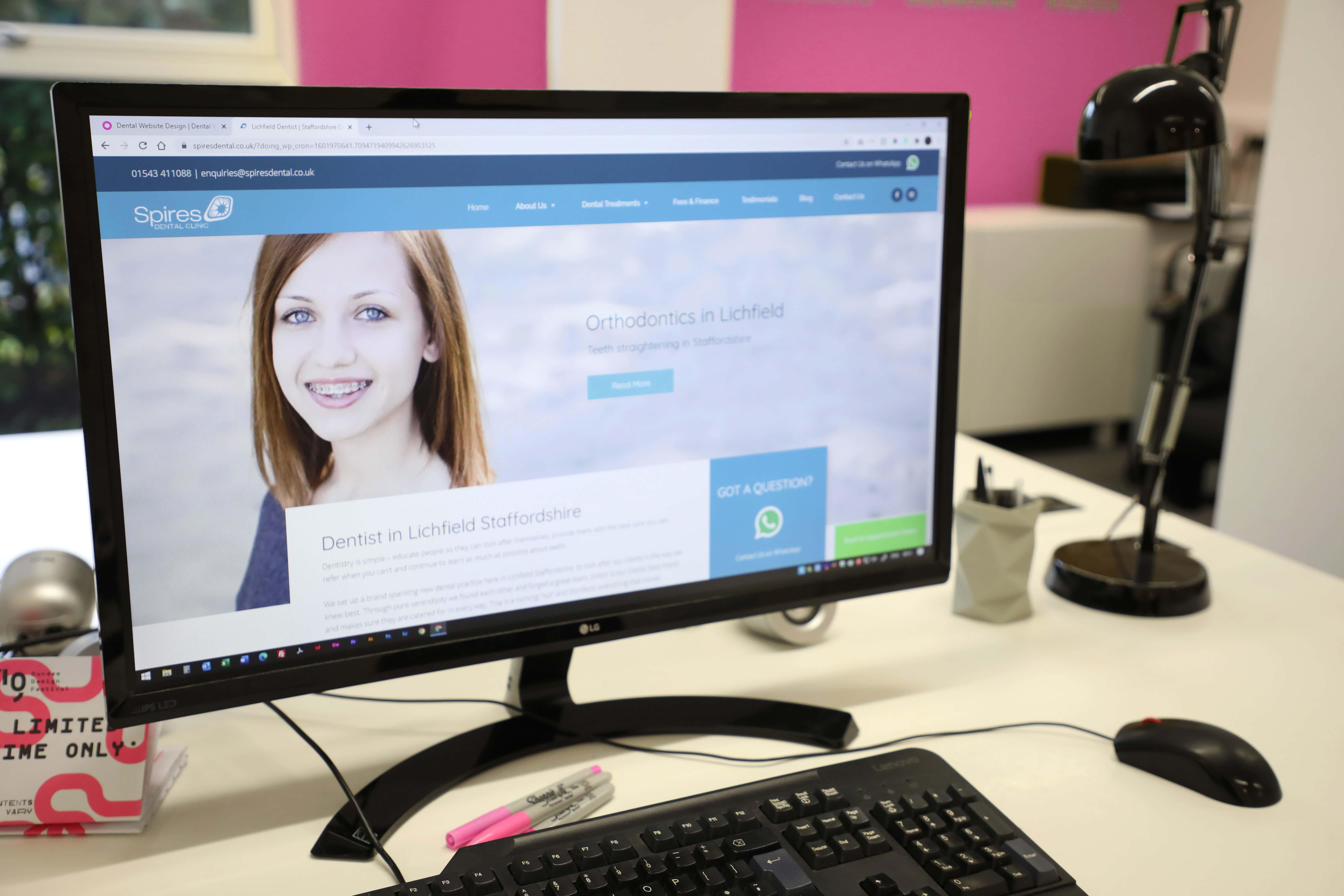 lichfield dentist website design