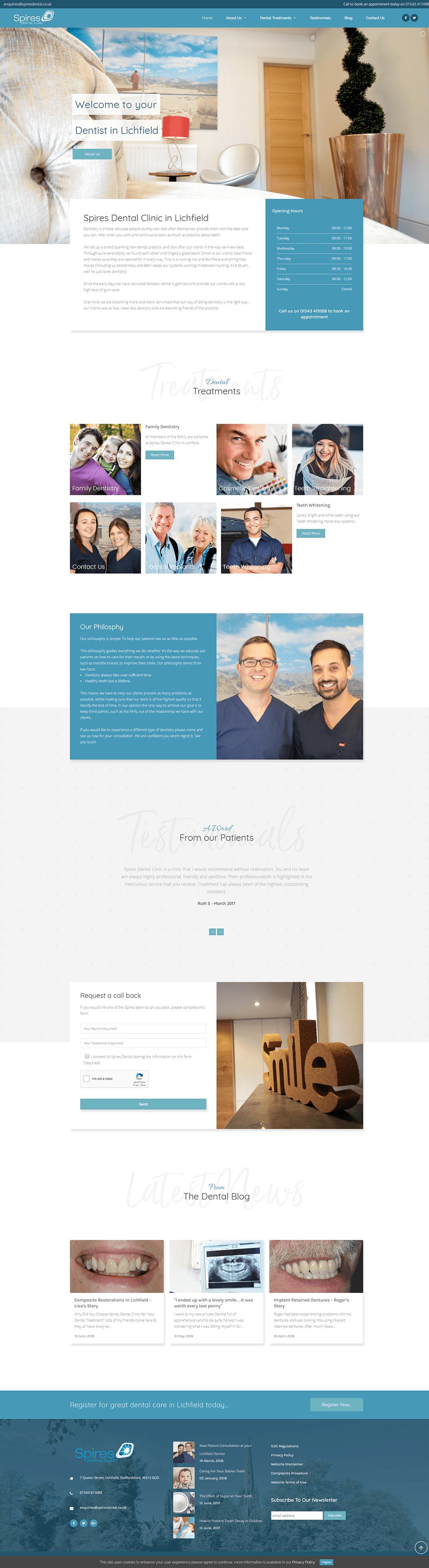 spires lichfield website design