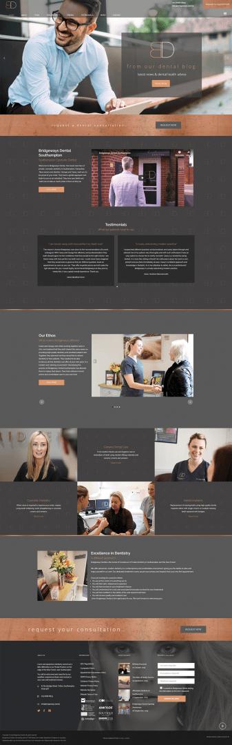 dental website design in southampton