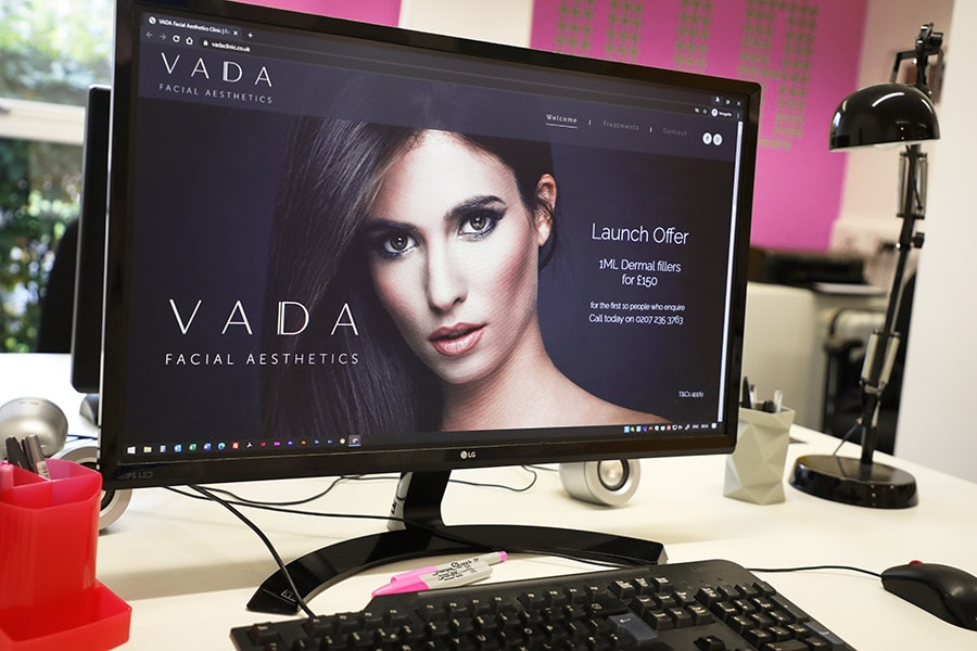 london facial aesthetics website design