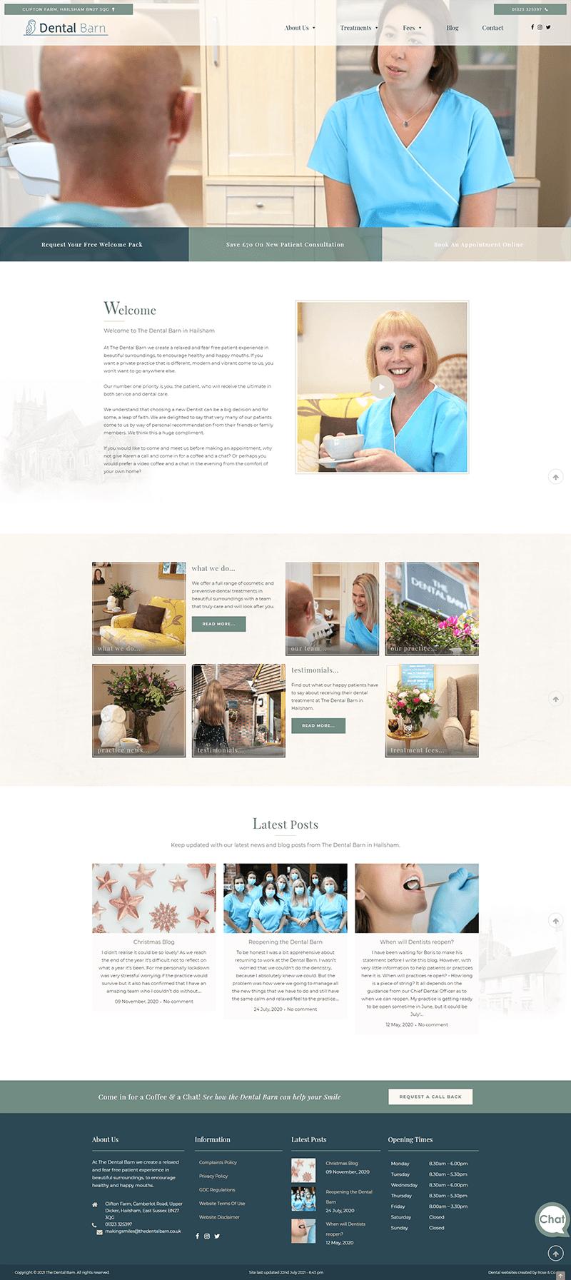 the dental barn website designer