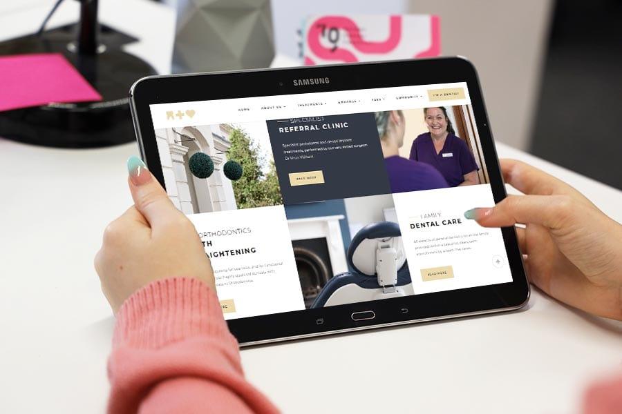 dentist website design warwickshire