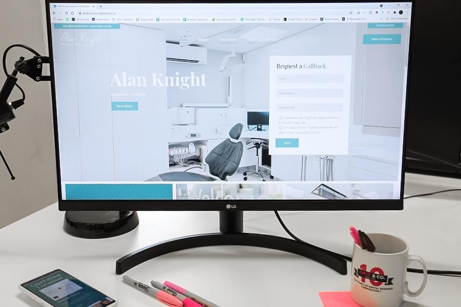 alan knight dental website design