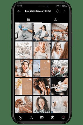 dental social media management