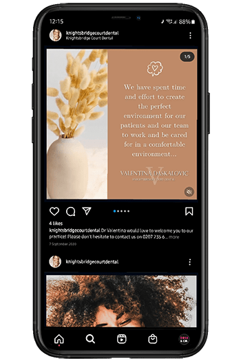 dental social media management uk