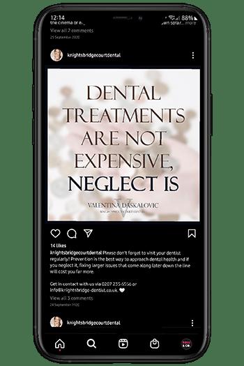 dental social media manager